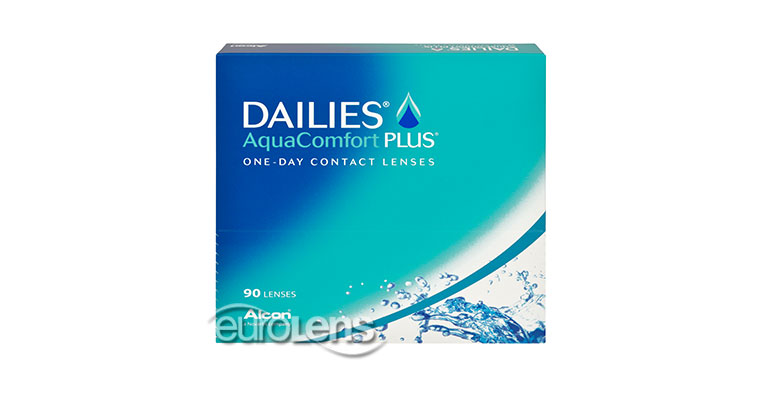 Dailies AquaComfort Plus 90PK Contact Lenses - Dailies AquaComfort Plus 90PK Contacts by CIBA Vision