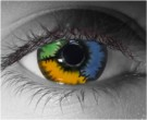 Patchwork Contact Lenses - Patchwork Contacts by Novelty Mfg