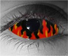 Flames Contact Lenses - Flames Contacts by Novelty Mfg