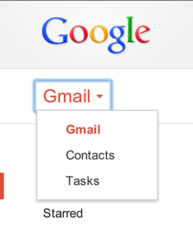 Gmail drop-down